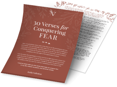 30 verses for conquering fear
